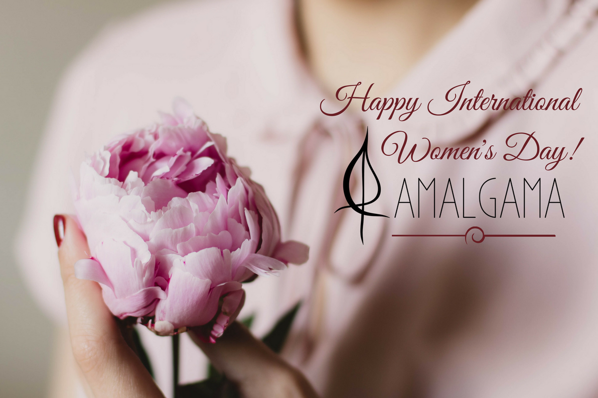 international womens day amalgama greetings card