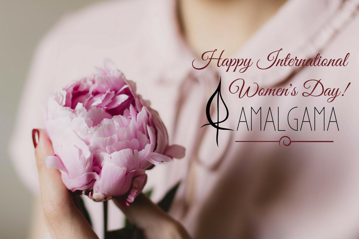 international womens day amalgama greetings card
